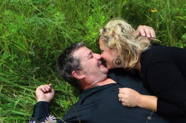 matthew and angie in grass